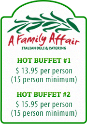 Buffet Menu 1-2